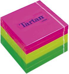 TARTAN Öntapadó jegyzettömb 76x76 mm 100 lap 6 tömb/cs vegyes neon színek (LPT7676N)