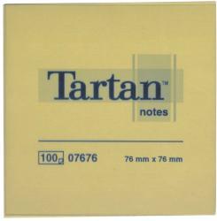 TARTAN Öntapadó jegyzettömb 76x76 mm 100 lap 12 tömb/cs sárga (LPT7676)