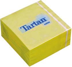 TARTAN Öntapadó jegyzettömb 76x76 mm 400 lap sárga (LPT7676YN)