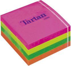 TARTAN Öntapadó jegyzettömb 76x76 mm 400 lap vegyes neon színek (LPT7676CN)