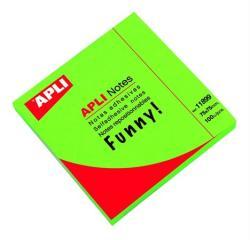 Apli Öntapadó jegyzettömb 75x75 mm 100 lap neon zöld (LNP11899)