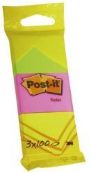 3M Öntapadó jegyzettömb 38x51 mm 100 lap neon színek (LP6812)