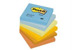 3M Kiegyensúlyozott öntapadó jegyzettömb 76x76 mm 100 színek (LP654MLBA)