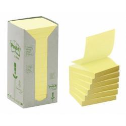 3M Z környezetbarát öntapadó jegyzettömb 76x76 mm 100 lap sárga (LPR3301T)