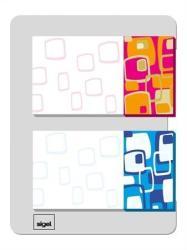 Sigel Retro műanyag jelölőcímke 2x20 lap 25x45 mm kék-narancs (SIHN504)