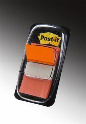 3M Műanyag jelölőcímke 50 lap 25x43 mm narancs (LPJ6804)