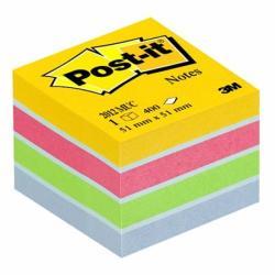3M Öntapadó jegyzettömb 51x51 mm 400 lap bliszteres ultra színek (LP2012MUC)