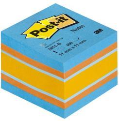 3M Öntapadó jegyzettömb 51x51 mm 400 lap kiegyensúlyozott színek (LP2051B)