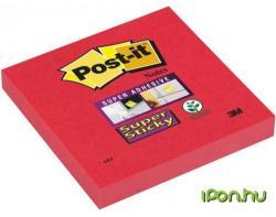 3M Super Sticky öntapadó jegyzettömb 76x76 mm 90 lap pipacs (LP6546SJP)