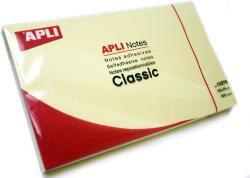 Apli Öntapadó jegyzettömb 125x75 mm lap sárga (LNP10976)