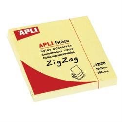 Apli Z öntapadó jegyzettömb 75x75 mm 100 lap sárga (LCA12078)