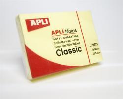 Apli Öntapadó jegyzettömb 50x75 mm 100 lap sárga (LNP10971)