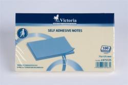 Victoria Öntapadó jegyzettömb 75x125 mm 100 lap sárga (LV75125)