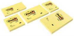 Öntapadó jegyzettömb 51x76 mm 100 lap sárga LP6561