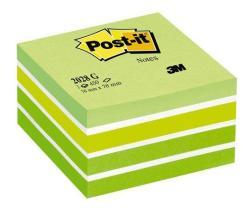 3M Önatapadó jegyzettömb 76x76 mm 450 lap aquarell zöld (LP2028G)