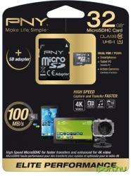 PNY Elite Performance 32GB MicroSDHC UHS-I (SDU32G10ELIPER-EF)