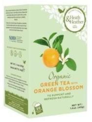 Heath & Heather Bio Zöld Tea Narancsvirággal 20 filter