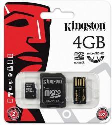 Kingston microSDHC 4GB Class 4 Mobility Kit (MBLY4G2/4GB)