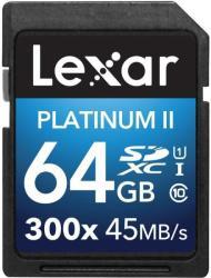 Lexar SDXC Platinum II 64GB Class 10 LSD64GBBEU300