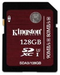 Kingston SDXC 128GB UHS-I U3 SDA3/128GB