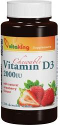 Vitaking Epres D3-vitamin 2000NE rágótabletta (210db)