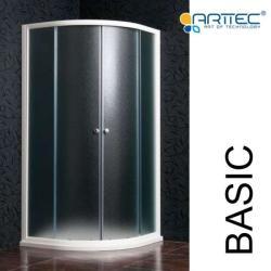 ARTTEC BASIC 90x90 cm STONE zuhanytálcával íves (PAN01043)