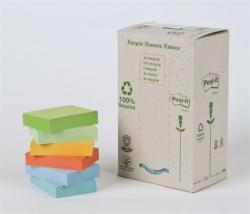 3M Környezetbarát öntapadó jegyzettömb 38x51 mm 100 lap pasztell szivárvány színek (LPK6531RPT)