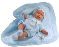 Llorens Carlo síró fiú baba takaróval - 42 cm