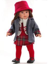 Llorens Martina baba piros harisnyában - 40 cm