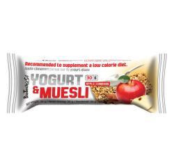 BioTechUSA Yogurt&muesli Fahéjas Almás-johurtos Müzliszelet 30g