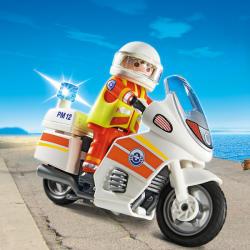 Playmobil Motocicleta de Urgenta cu Lumini (5544)