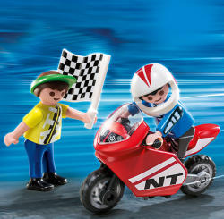 Playmobil Baieti cu Motocicleta de Curse (PM4780)