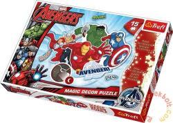 Trefl Magic Decor - Avengers: Bosszúállók 15 db-os foszforeszkáló puzzle (14612)