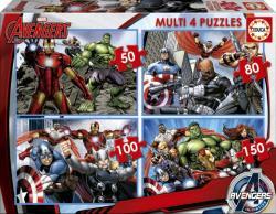 Educa Avengers: Bosszúállók 4 az 1-ben (50-80-100-150 db-os) (16331)