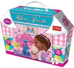 Trefl Glam Puzzle - Disney Doc McStuffin 50 db-os csillámos (14801)