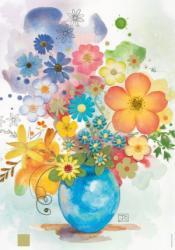 Heye Blue Vase Florals 500 db-os