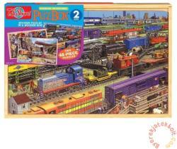 TS Shure PuzBox Vonatok fa óriás puzzle (K-0994)