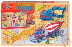 TS Shure PuzBox Építkezés fa óriás puzzle (K-0990)