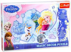 Trefl Magic Decor - Jégvarázs 15 db-os foszforeszkáló puzzle (14615)