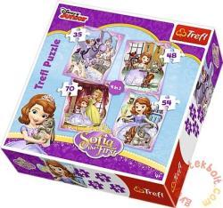 Trefl Disney Szófia hercegnő 4 az 1-ben 35,48,54 és 70 db-os (34247)