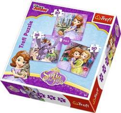 Trefl Disney Szófia hercegnő 3 az 1-ben 20,36 és 50 db-os 34814