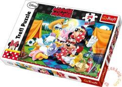 Trefl Maxi puzzle Minnie Mouse: Táborozás 24 db-os (14220)
