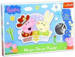 Trefl Magic Decor - Peppa Malac 15 db-os foszforeszkáló puzzle (14610)