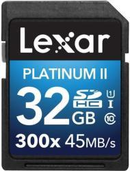 Lexar Platinum II SDHC 32GB Class 10 300x UHS-I LSD32GBBEU300