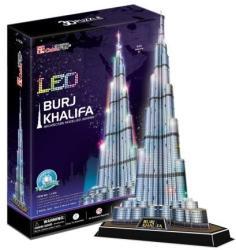 CubicFun Burj Khalifa 3D puzzle LED világítással 136 db-os