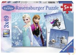 Ravensburger Jégvarázs Téli kalandok 3 x 49 db-os (09264)