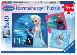 Ravensburger Jégvarázs Elsa, Anna és Olaf 3 x 49 db-os (09269)