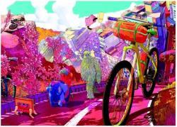 Heye Tour in Pink, Bike Art 1000 db-os (29677)