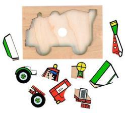 Rolf Járműves fa puzzle készlet 10db-os