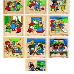 Rolf Tevékenységek Fa puzzle szett 10 db-os